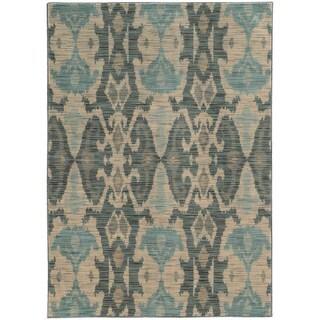 Nomadic Ikat Ivory/ Grey Rug (5'3 X 7'6)