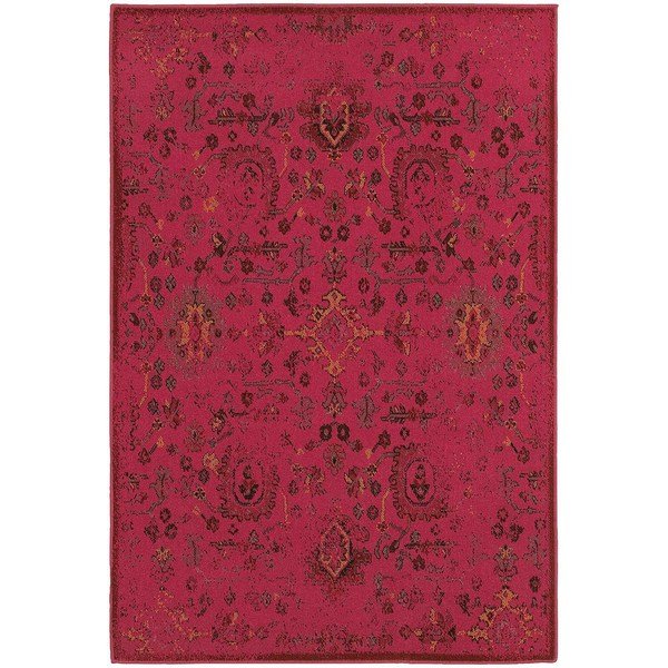 """Traditional Distressed Overdyed Persian Pink/ Charcoal Rug (1'10 X 3'3) - 1'10"""" x 3'3"""""""