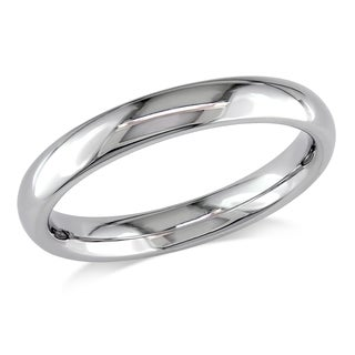 Miadora 14k White Gold 3mm Wedding Band