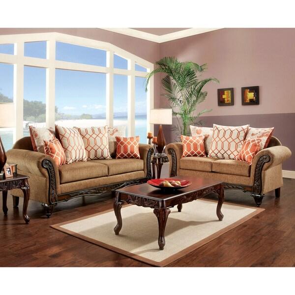 Shop Furniture Of America Restene 2-Piece Brown
