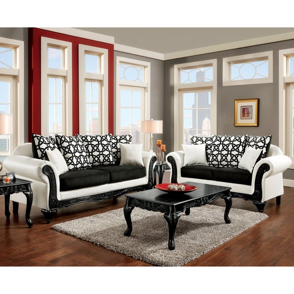 Shop Furniture Of America Duality 2-Piece Black And White
