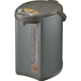 Zojirushi CD-WBC40-TS Silver Brown Micom 4-Liter Water Boiler and Warmer