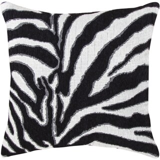 Black/ White Zebra Print Pillow
