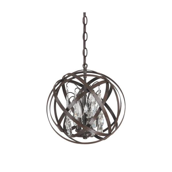 Capital Lighting Axis Collection 3 Light Russet Orb Pendant Free Shipping Today Overstock