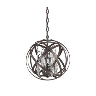 capital lighting axis collection 3light russet orb pendant