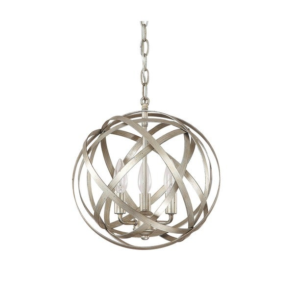 Capital Lighting Axis Collection 3 Light Winter Gold Orb Pendant