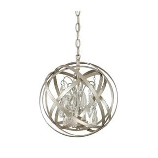 Capital Lighting Axis Collection 3-light Winter Gold Orb Pendant with Crystals