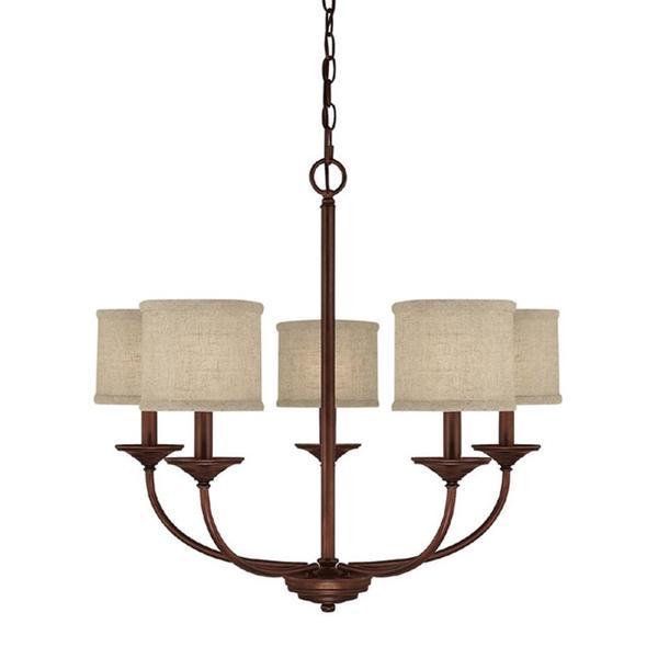 Capital lighting halo collection 5 light burnished bronze chandelier - Capital Lighting Loft Collection 5 Light Burnished Bronze