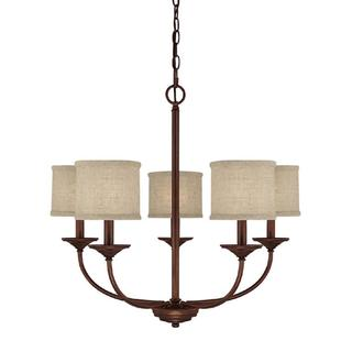 Capital Lighting Loft Collection 5-light Burnished Bronze Chandelier