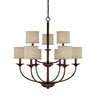 Capital Lighting Loft Collection 9-light Burnished Bronze Chandelier