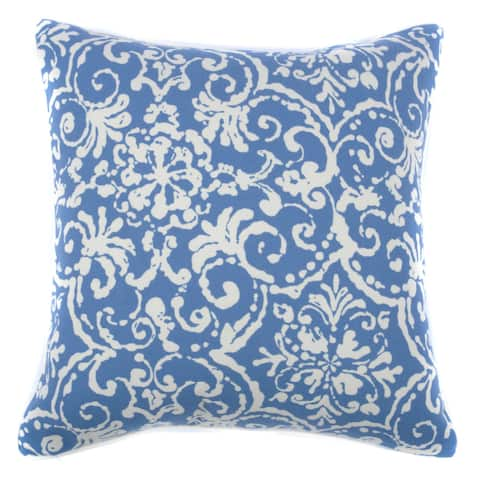 Handmade Jiti Outdoor Vintage Floral Blue 20-inch Square Pillow (United States)