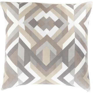 Decorative Hetton 20-inch Feather Down or Poly Filled Throw Pillow (Polyester - Brown/Tan)