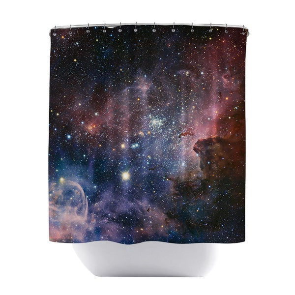 Carina Nebula Polyester Shower Curtain
