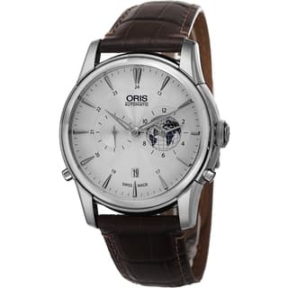 Oris Men's 690 7690 4081 LS2 'Artelier' Silver Dial Brown Leather Strap Limited Edition Watch|https://ak1.ostkcdn.com/images/products/9940141/P17095224.jpg?impolicy=medium