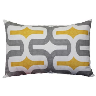 Embrace Grey/ Yellow Lumbar Cushion Cover