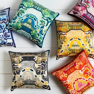 Decorative Campbell 20-inch Down or Poly Filled Throw Pillow