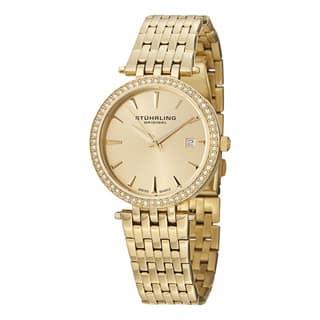 Stuhrling Original Women's Garland Swiss Quartz Crystal Stainless Steel Bracelet Watch|https://ak1.ostkcdn.com/images/products/9940172/P17095233.jpg?impolicy=medium