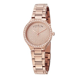 Stuhrling Original Women's Symphony Swiss Quartz Crystal Stainless Steel Bracelet Watch