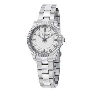 Stuhrling Original Women's Swiss Quartz Crystal Stainless Steel Bracelet Watch