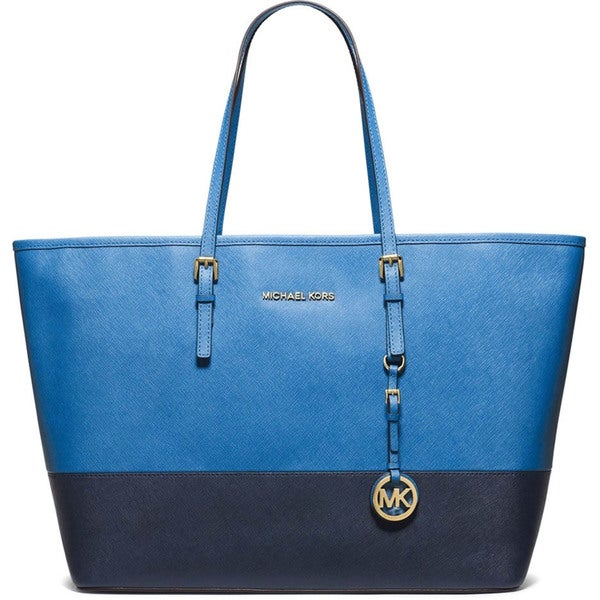 Michael Kors Jet Set Travel Medium Two Tone Tote Bag