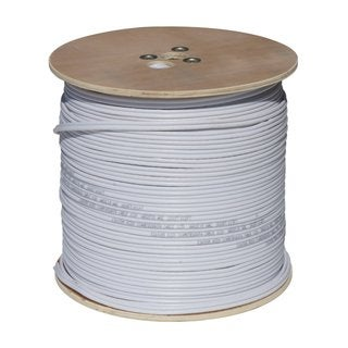 RG59 White Siamese 18/2 Coaxial Power Cable (1000 Feet)