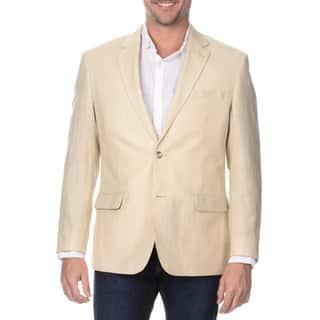 Prontomoda Elite Men's Sand Rich Wool Blazer|https://ak1.ostkcdn.com/images/products/9940251/P17095399.jpg?impolicy=medium