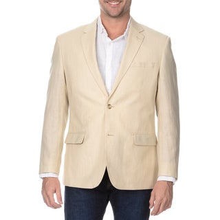 Prontomoda Elite Men's Sand Rich Wool Blazer