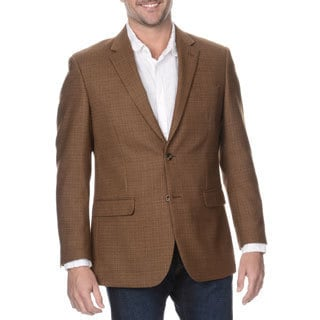Prontomoda Elite Men's Coffee Rich Wool Blazer