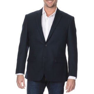 Prontomoda Elite Men's Navy Rich Wool Blazer