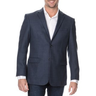 Prontomoda Europa Men's Blue Lamb Wool Sportcoat
