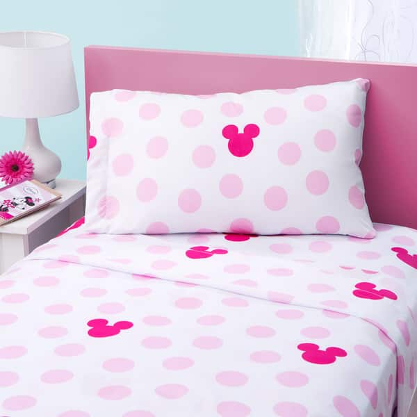 Shop Disney Minnie Mouse Twin Sheet Set Overstock 9940263