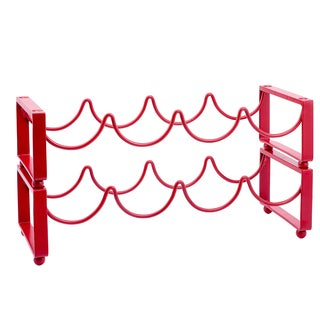Old Dutch 4-bottle Red Stackable Wine Rack (Set of 2)