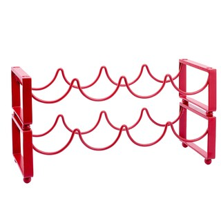 Palm Canyon Allesandro 4-bottle Red Stackable Wine Rack (Set of 2)