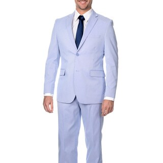 Reflections Men's Slim Fit Lavender Cotton Blend Pincord Suit