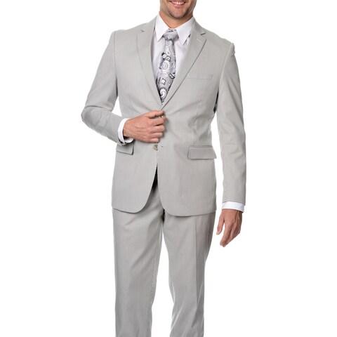 Reflections Men's Slim Fit Tan Cotton Blend Pincord Suit