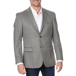 Prontomoda Europa Men's Grey Wool and Silk Blazer