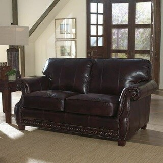 Anna Leather Loveseat by Lazzaro Leather