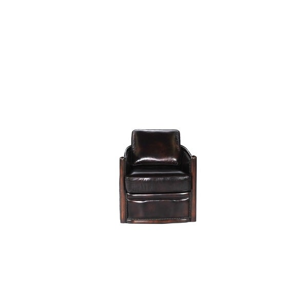 Lisbon Brown Leather Cowhide Swivel Tub Chair  sc 1 st  Overstock.com & Shop Lisbon Brown Leather Cowhide Swivel Tub Chair - Free Shipping ...