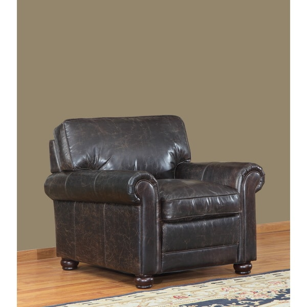 Genesis Brown Leather Cowhide Chair