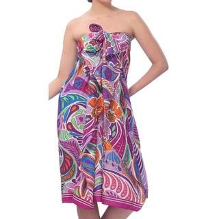 La Leela Super Soft Likre Modern Paisley Bikini Sarong Cover up 72X42Inch Violet