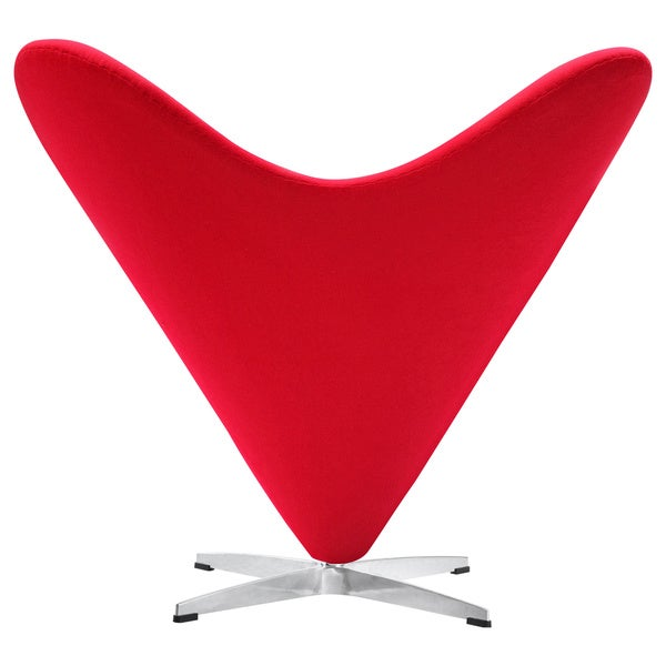 Red Heart Cone Chair