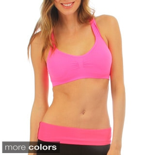 Lyss Loo Criss Cross Racerback Sports Bra
