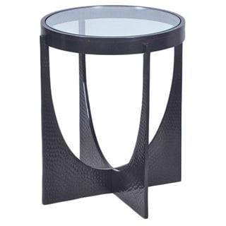 Horizon U-shaped Hammered Dark Bronze Side Table