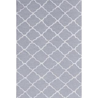 Lattice Grey Area Rug