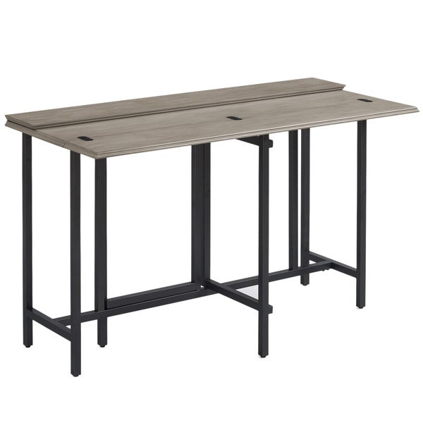 Convertible Wood Dining Table Grey   Free Shipping Today   Overstock.com    17095937