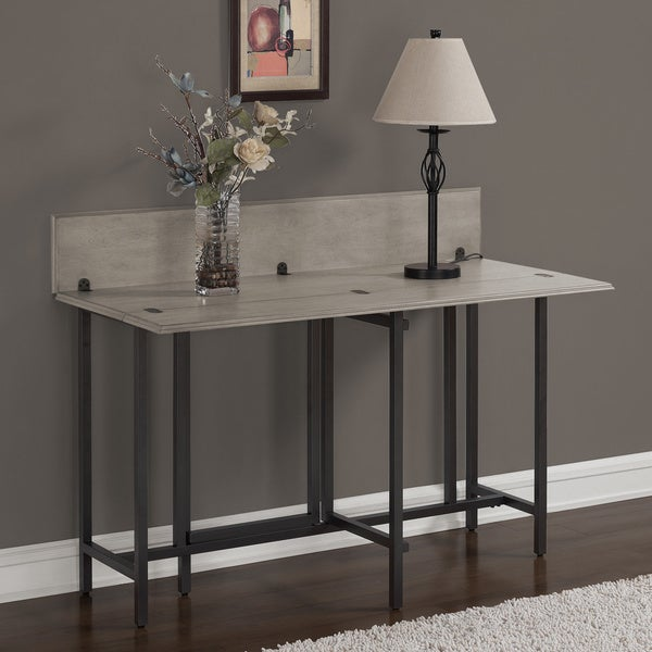 convertible wood dining table grey - free shipping today