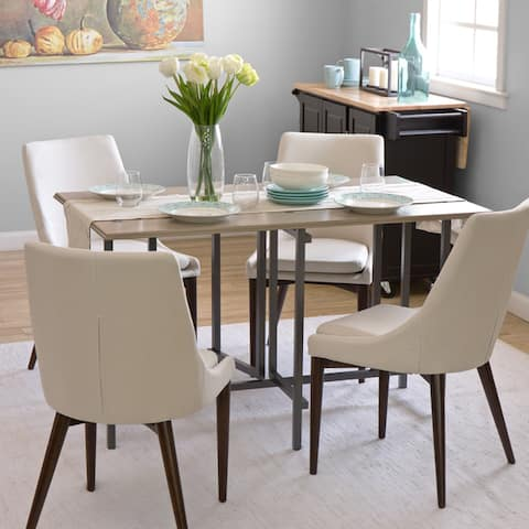 Carbon Loft Convertible Wood Dining Table Grey