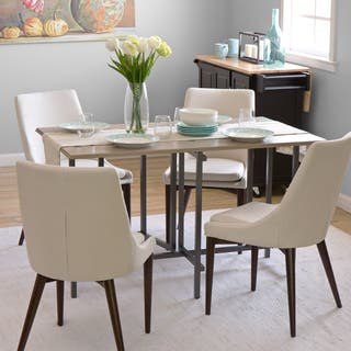 Convertible Wood Dining Table Grey. Metal Dining Room   Kitchen Tables For Less   Overstock com