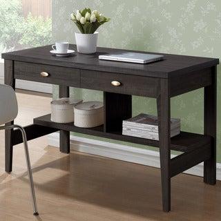 CorLiving Folio Black Espresso 2-drawer Desk