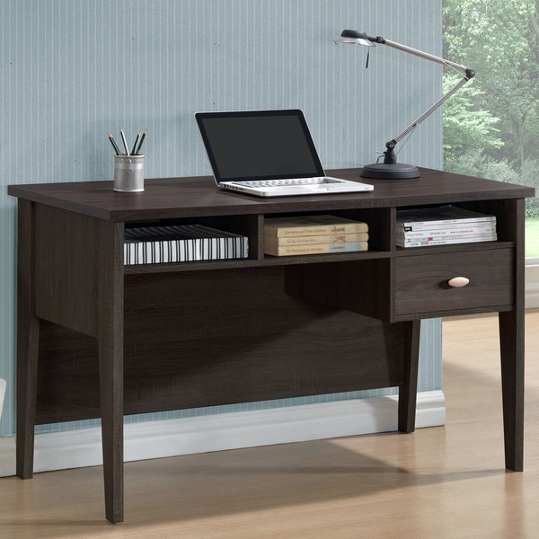 Carbon Loft Montague Black Espresso Single-drawer Desk